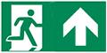 grafische Darstellung Rettungsweg Notausgang oben
