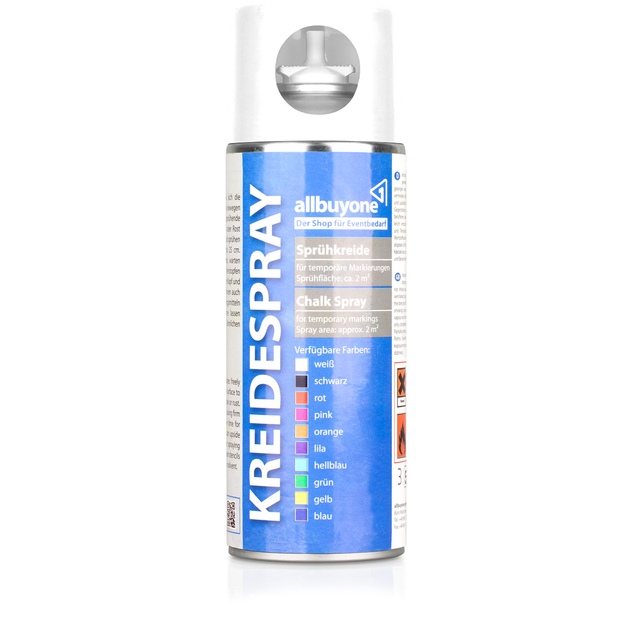 38c2e0a380954f Kreidespray kaufen - 400 ml Dose in 15 Farben