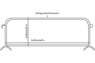 Absperrgitter Hussen bedrucken lassen Skizze