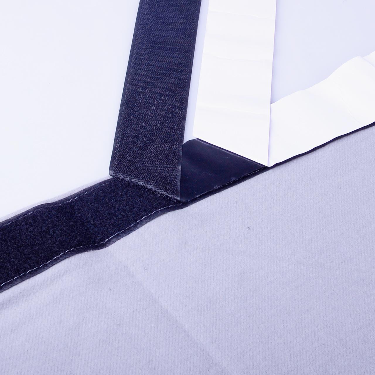Dekomolton mit Klettband und Flauschband