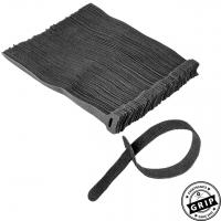Klettkabelbinder schwarz - 100er Set
