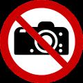 """Grafik Verbotsschild """"Fotografieren verboten"""" nach ISO 7010"""