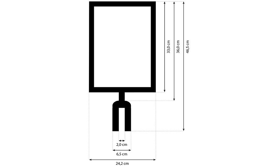 Schildtafel für Tensatoren in schwarz oder silber