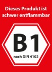 schwerentflammbar nach DIN 4102-B1
