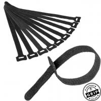 Klettkabelbinder schwarz – 10er Set